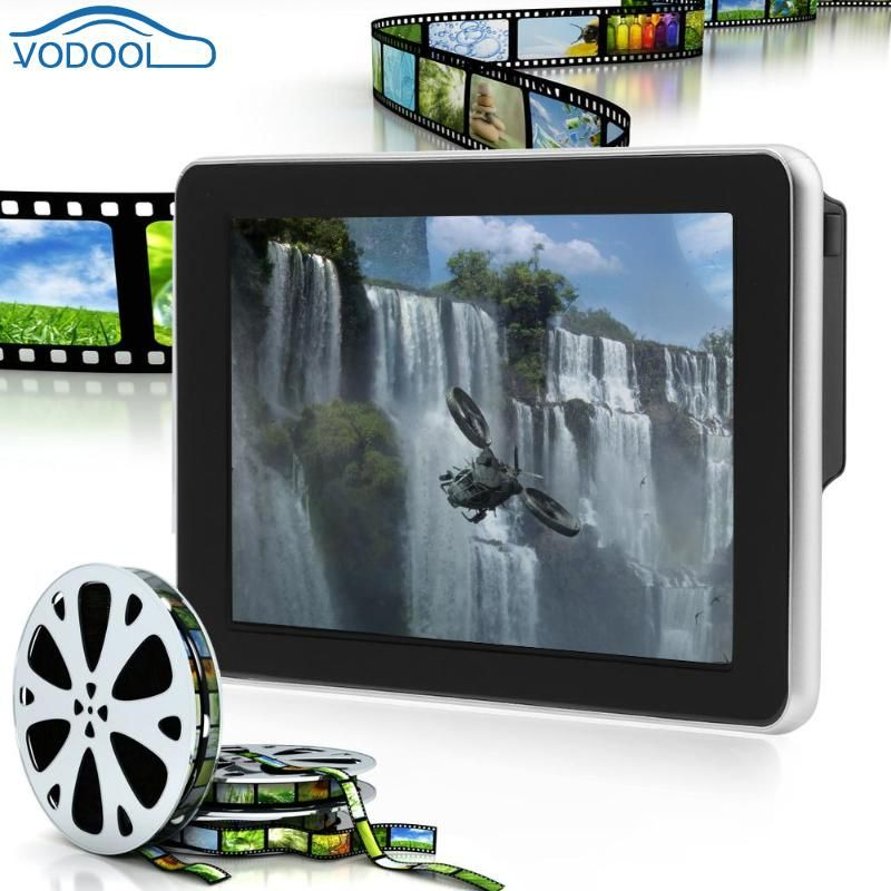 Vodool Universal Car Headrest Hanging Monitor 9inch 12V Digital Color LCD Auto Head Rest Car Accessaries