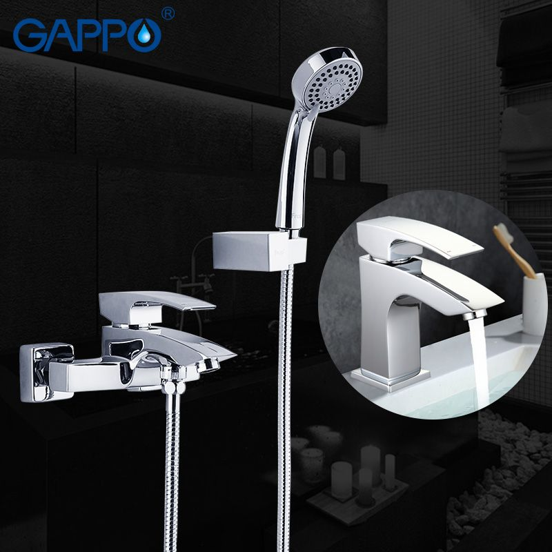 GAPPO bathroom faucet shower system wall mounted bathtub faucet basin faucet chrome tap bathroom wash basin mixer set