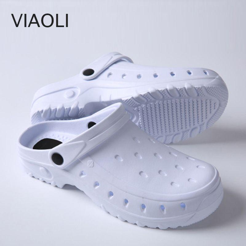 VIAOLI neue Männer Klassische antistatische Autoklavierbar Anti Bakterien Chirurgische Schuhe Medizinische Schuhe Sicherheit Chirurgische Clogs Reinraum Arbeit