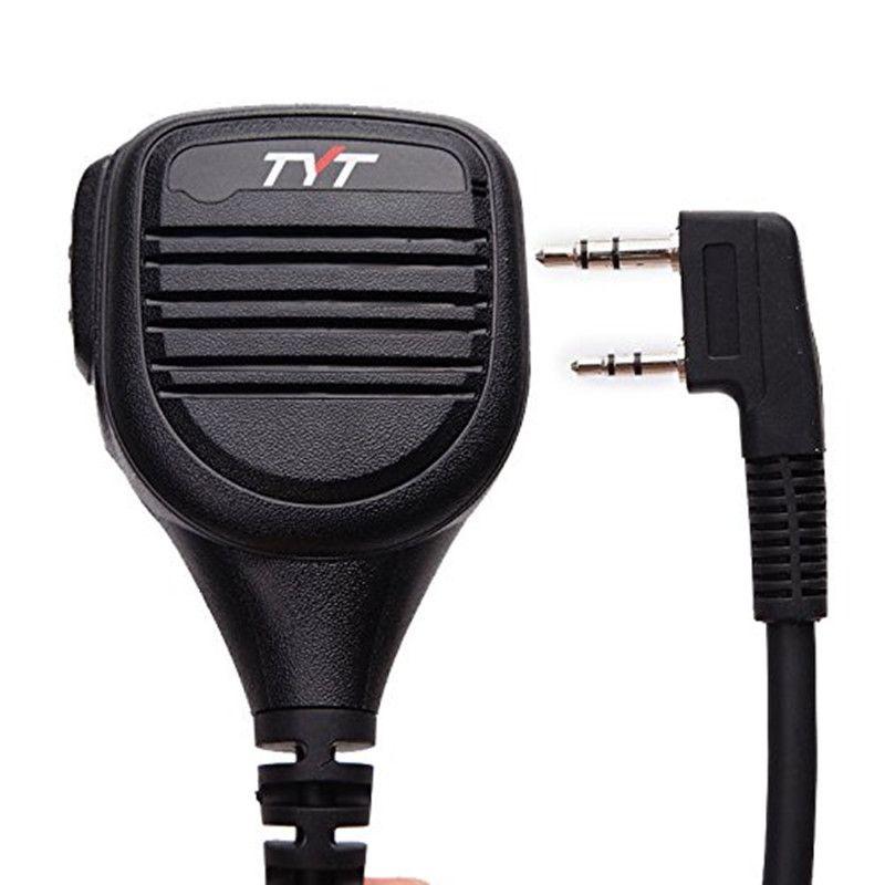 TYT MD-380 2 Pin PTT Remote Rainproof Shoulder Speaker Mic Microph for TYT MD-380 MD-390 TH-UV8000D/E Walkie Talkie MD-380G