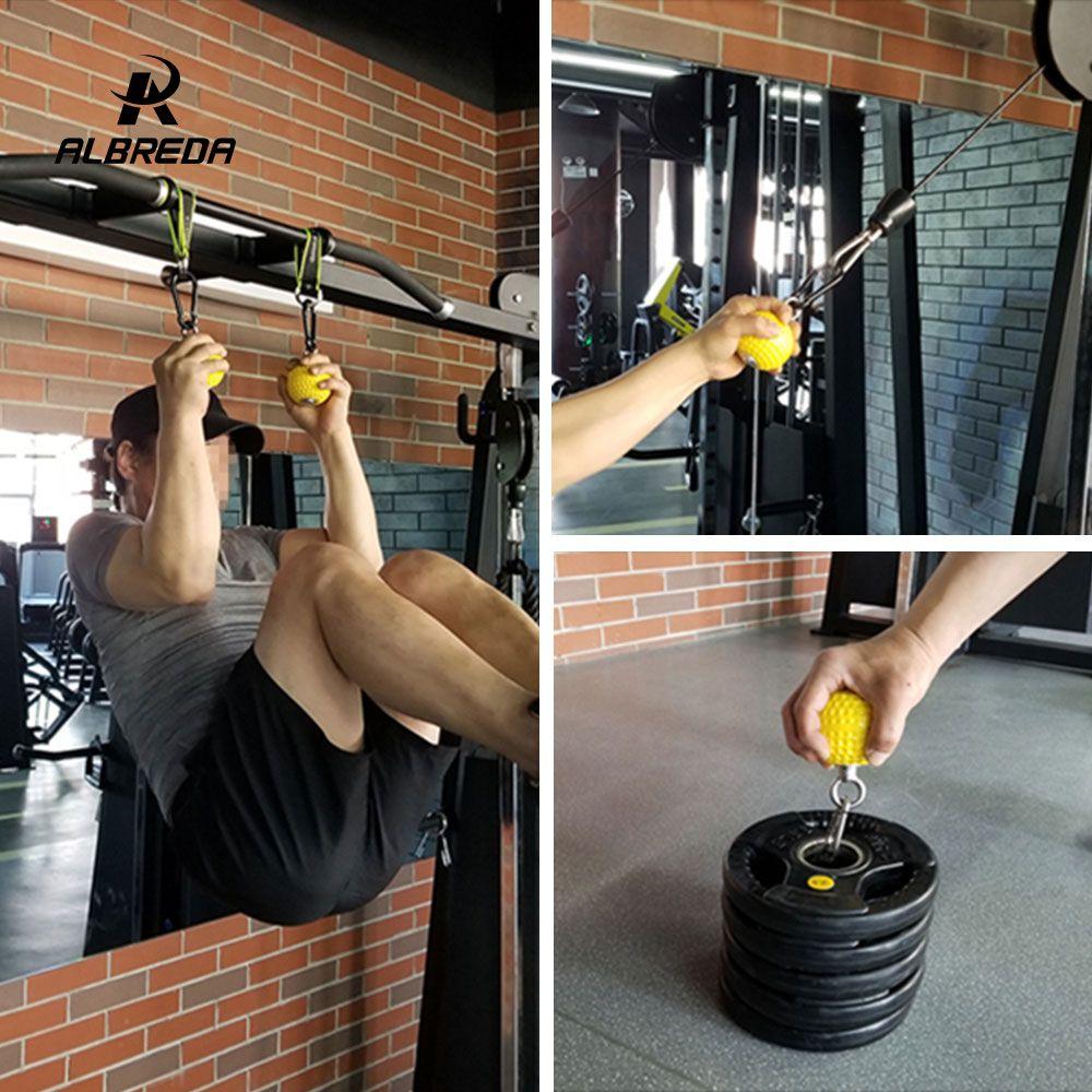 ALBREDA 7.2/9.7cm Training Arm and Back Muscles Pull-ups Strengthen Ball Wrist Climbing Finger Training Hand Grip Strength ball