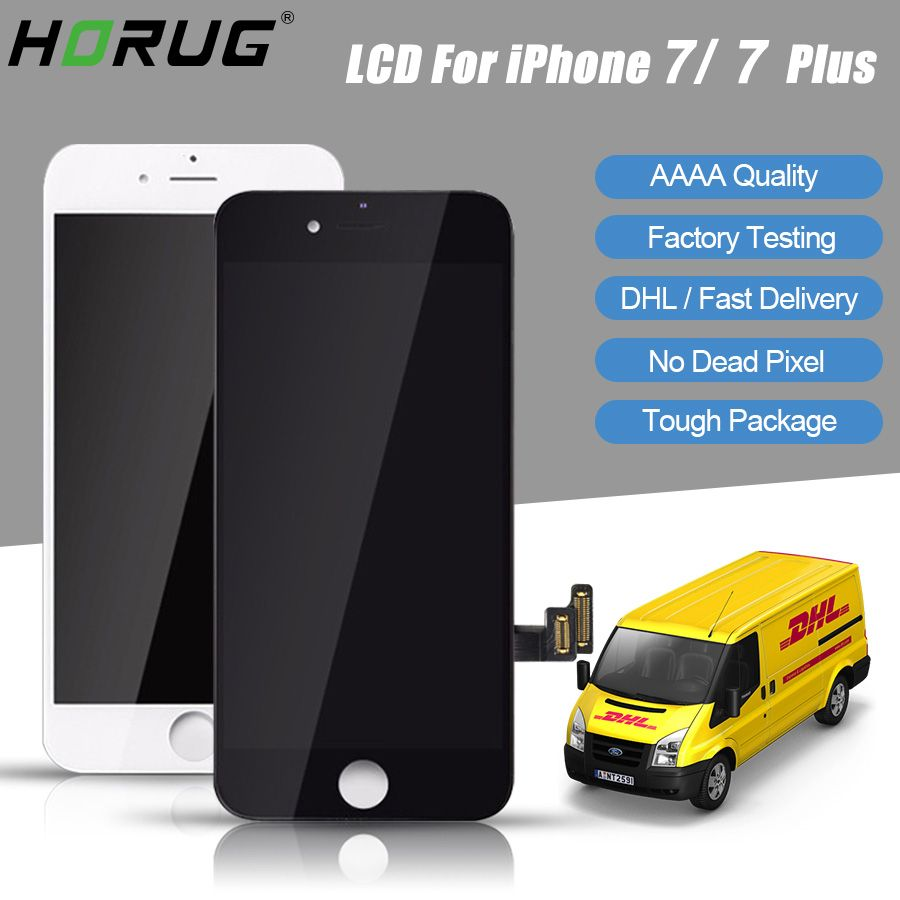 HORUG 10pcs DHL AAAA 100% Original Screen LCD For iPhone 7 Plus LCD Replacement Display Touch 7 Plus Screen Screen LCDS