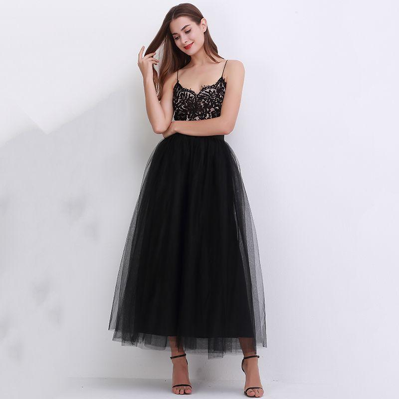 100cm New arrive Women Vestidos Long Tulle Skirts 2018 Floor Length Tutu Skirts adult Wedding Lolita Sashes Bridesmaid Skirts