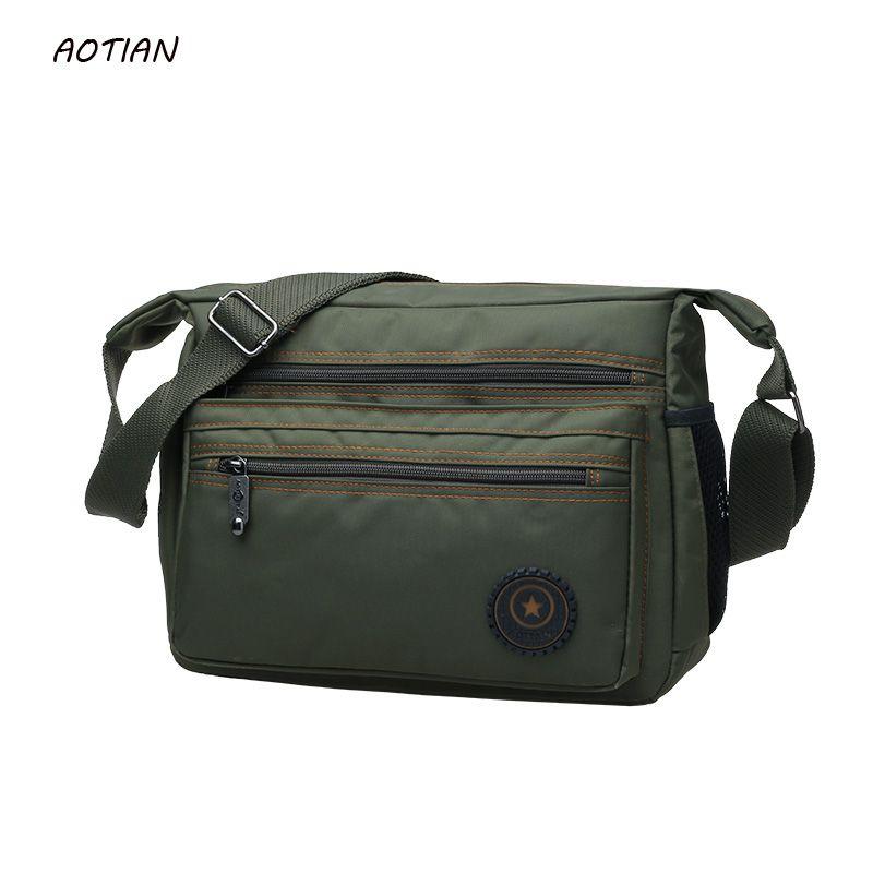 Vente chaude 2019 hommes messenger sacs de haute qualité hommes sac de voyage homme sac à bandoulière conception classique hommes en Nylon sacs étanche