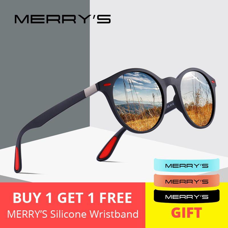 MERRYS DESIGN hommes femmes classique rétro Rivet lunettes de soleil polarisées TR90 jambes plus léger Design cadre ovale Protection UV400 S8126