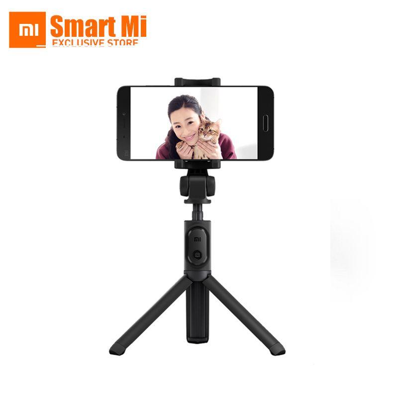 Xiaomi origine pliable de poche trépied selfie bâton manfrotto selfiestick bluetooth avec obturateur sans fil pour android et iphone