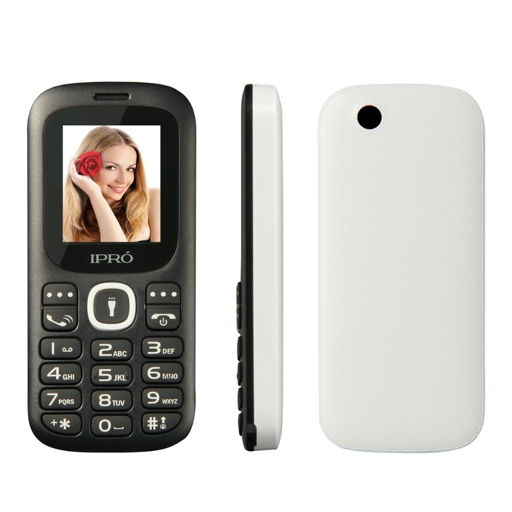 Original IPRO I3185 32MB+32MB Bluetooth Dual SIM Unlocked Mobile Phones for Elders Kids GSM 2G SC6531DA 1.77 Inch Cell Phone