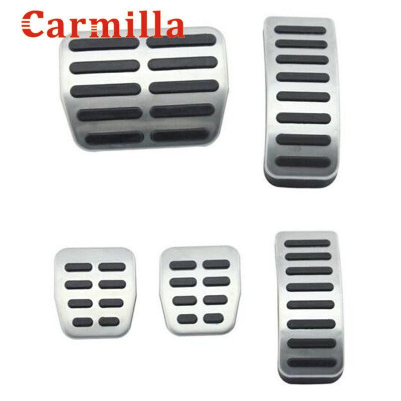 Carmilla Stainless Steel Car Gas Brake Pedals For Audi TT Pedale VW SEAT Golf 3 4 Polo 9N3 For SKODA Octavia Ibiza Fabia