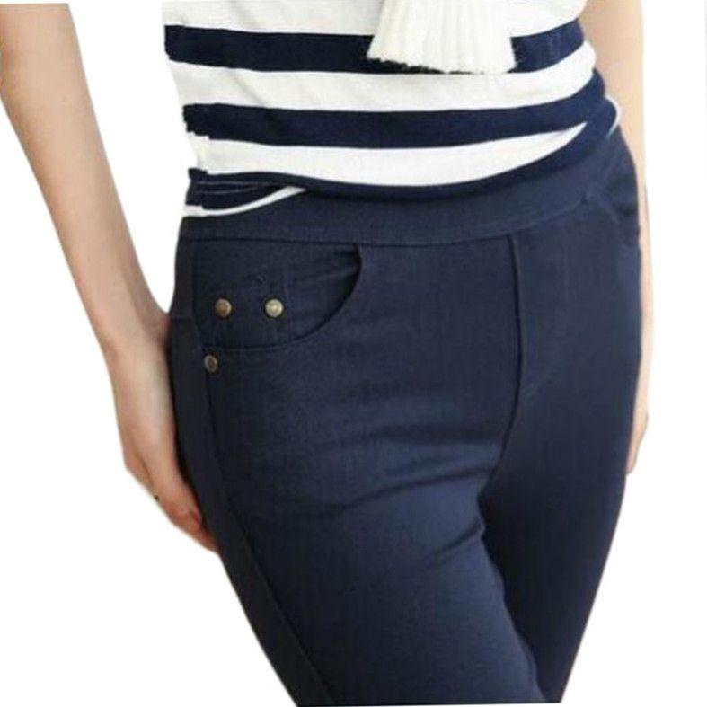 Livraison gratuite 2018 nouveau automne mode crayon Jeans femme couleur bonbon taille moyenne pleine longueur Zipper Slim Fit Skinny femmes pantalon