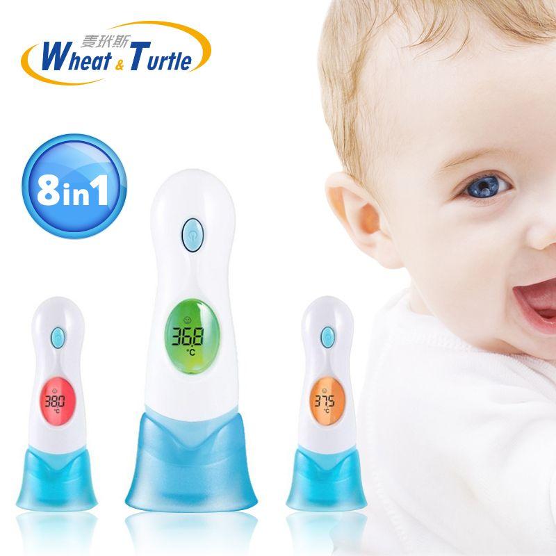 8in1 Multifuncional Termómetro Infrarrojo termómetro de Oído Del Cuerpo Del Bebé Digital Adultos Salud Monitores LCD Eléctrica Fiebre Termómetro