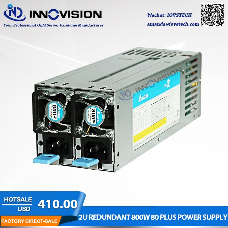 High-efficiency saved energy 2U redundant 800W 80 plus power supply for2U/3U Server chassis