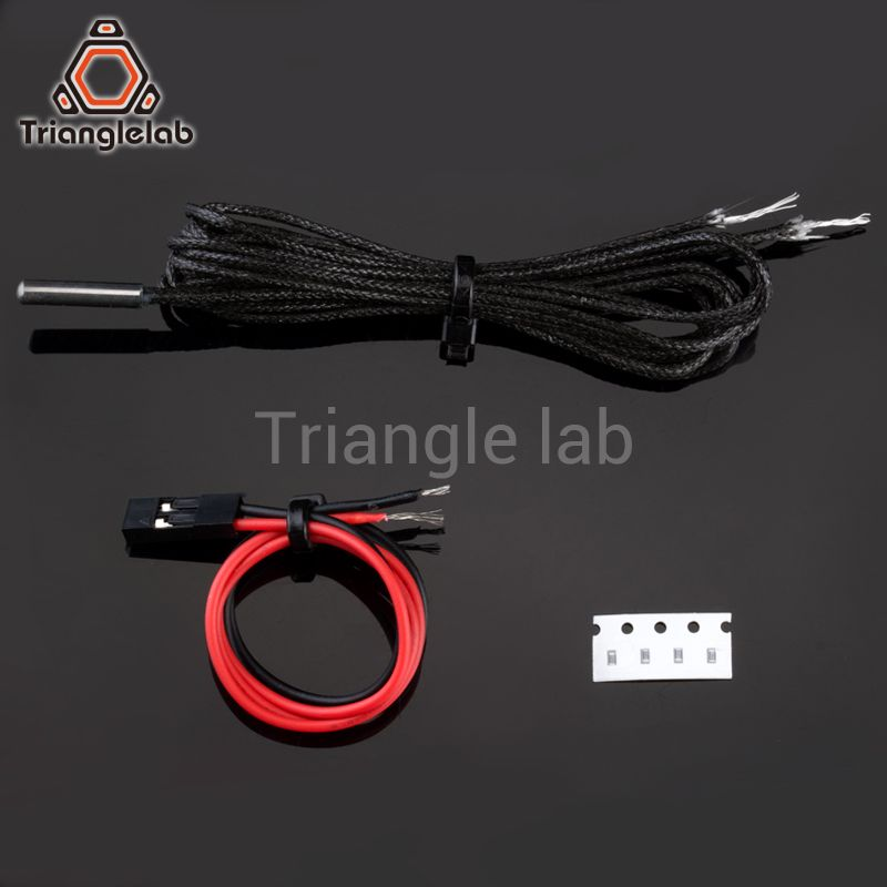 Trianglelab PT1000 Thermistor Cartridge for 3D printer E3D Volcano/ v6 heater block UPTO 450C PEEK PEI PT100 printing