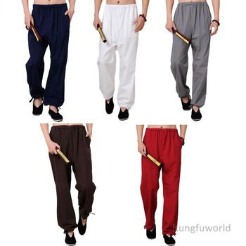 100% Cotton Kung fu Tai chi Pants Martial arts Wushu Wing Chun Trousers