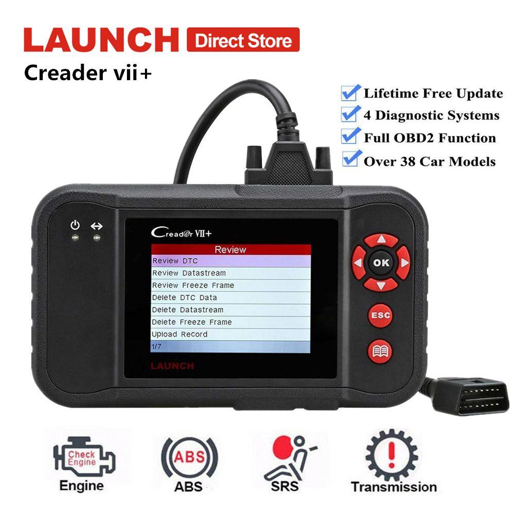 Launch Creader VII Plus Auto Auto Scanner Fehler OBD2 Code Reader Motor Übertragung ABS SRS Diagnose Werkzeug Gleiche wie Creader 123