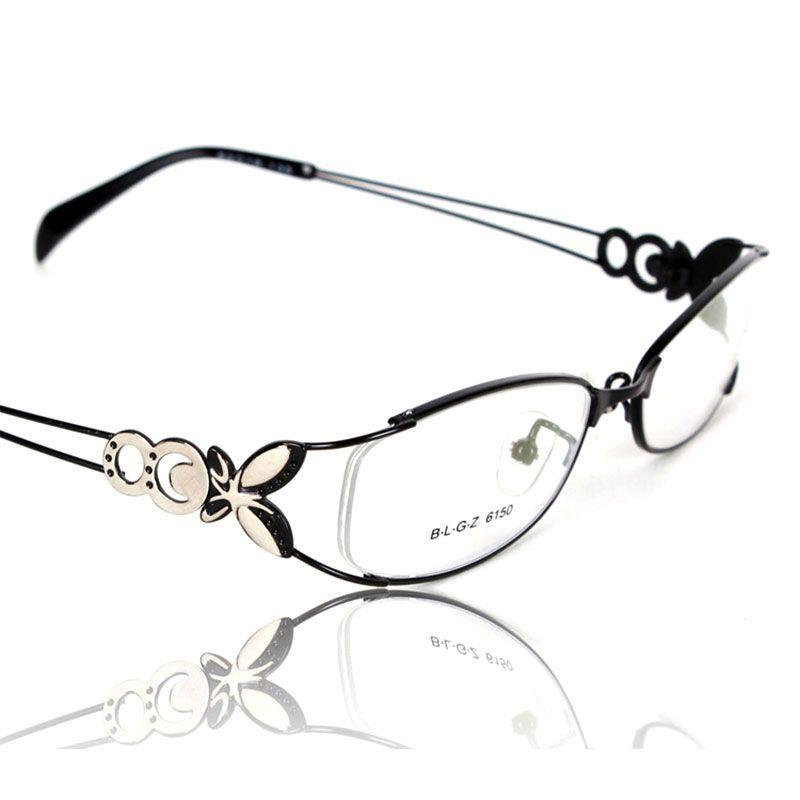 Papillon alliage élégant femmes lunettes cadre femme Vintage optique lunettes plaine oeil boîte lunettes cadres lunettes myopes
