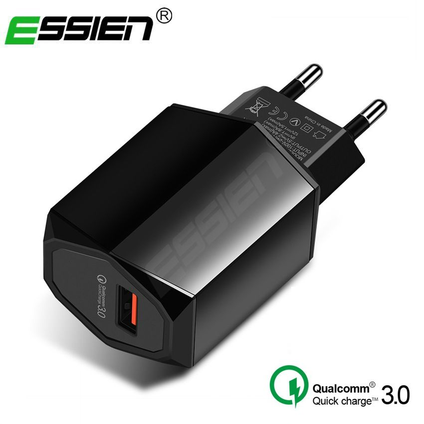 Essien USB Charger for Mobile Phone Charging for iphone Sumsung Xiaomi Charger USB Phone Charger Adapter Fast Quick Charger 3.0