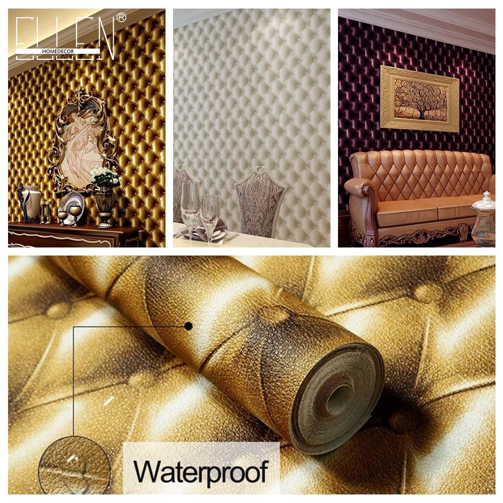 3D Modern Imitation Leather vein wallpaper roll for walls,living room of 3d wall paper,papel de parede roll 3d room