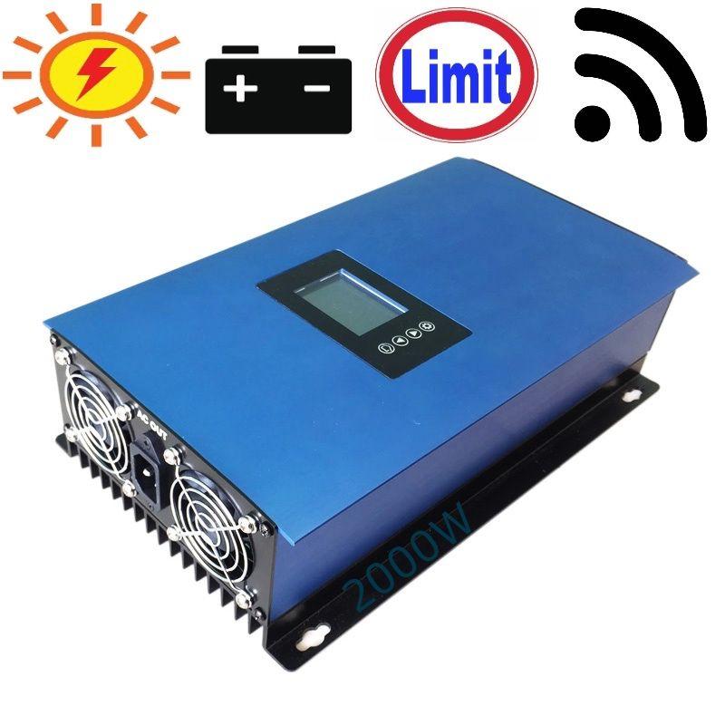 2000 W Batterie Entladung Power Modus/MPPT Solar Grid Tie Inverter mit Limiter Sensor