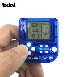 Mini juego clásico Tetris electrónico Cyber máquina educación juguetes para niños Juego llavero regalos color al azar