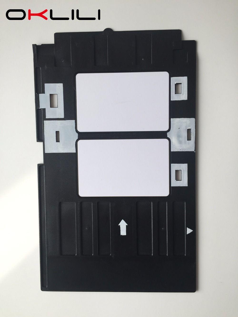 PVC Plateau De Carte D'IDENTITÉ En Plastique carte Plateau D'impression pour Epson R260 R265 R270 R280 R290 R380 R390 RX680 T50 T60 A50 P50 L800 L801 R330