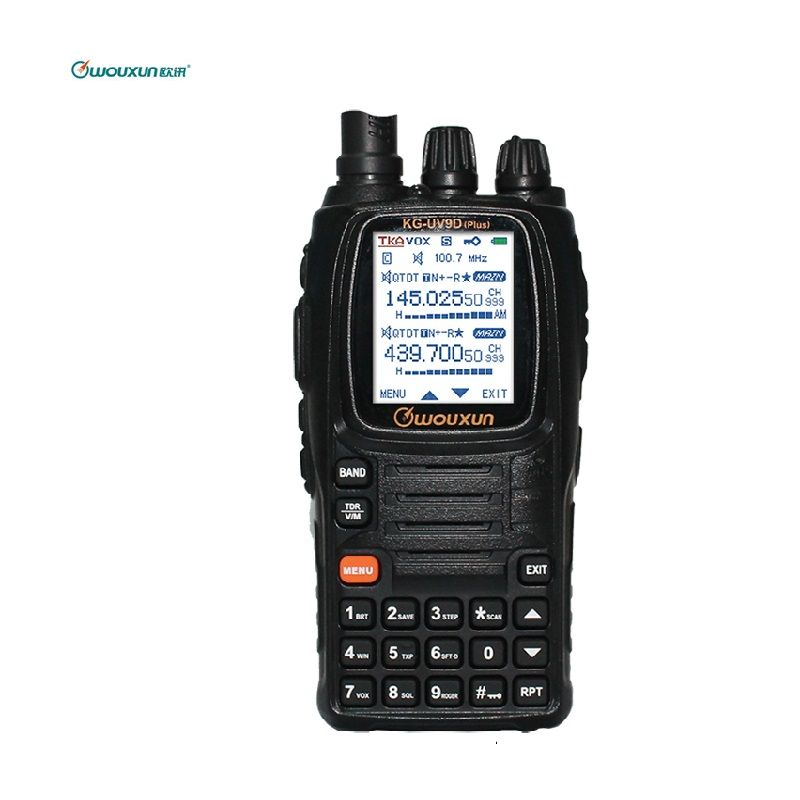 Wouxun KG-UV9D PLUS Dual Band Transmission Walkie Talkie Cross Band Repeater Multi-Band Multi-functional DTMF Ham Two Way Raido