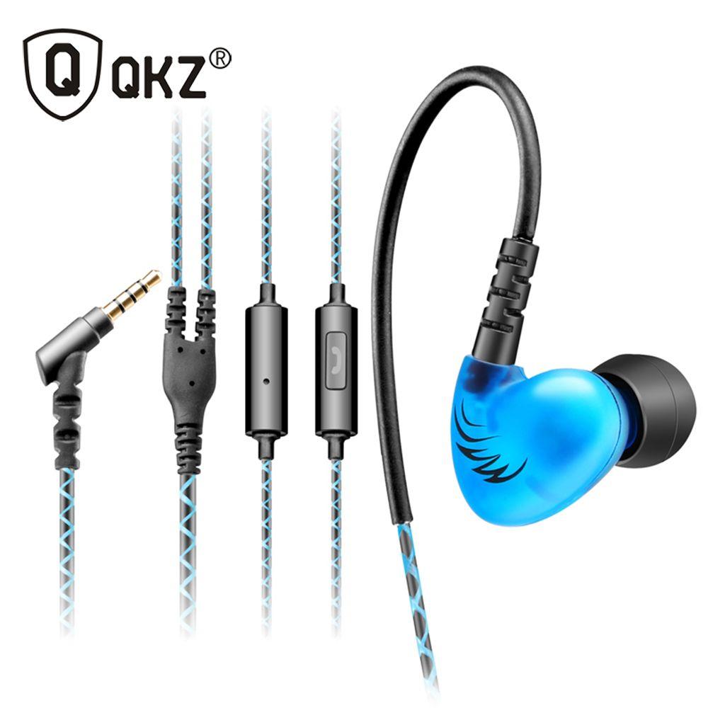 QKZ C6 Sport Casque Basse Crochet D'oreille Casque Sport in-ear Écouteurs Fonctionnant Avec Microphone Pour Lecteur MP3 Pour Téléphones Intelligents