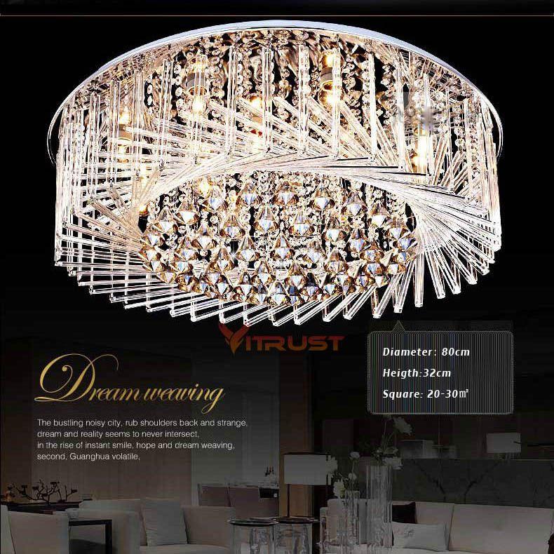 Moderne Kristall FÜHRTE Decke Lampen Japan Stil Wohnzimmer Lichter LED Kristall Lampe Schlafzimmer Lampe Vogelnest Design Lichter