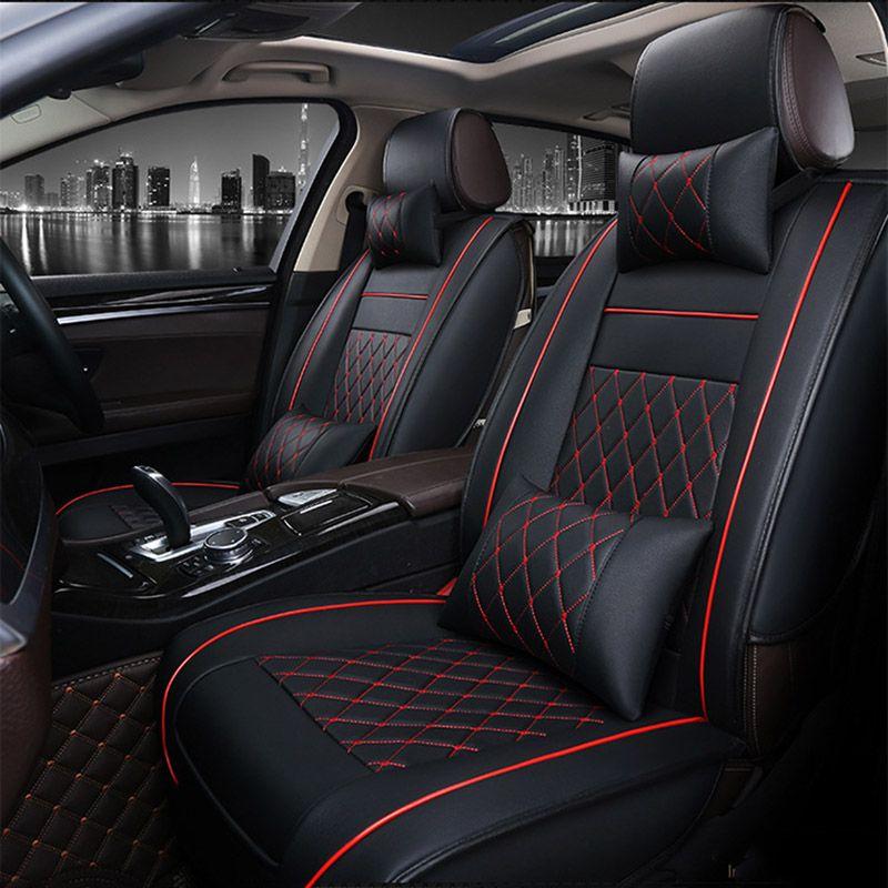 Housses de siège auto en cuir synthétique polyuréthane universelles pour Volkswagen vw passat polo golf tiguan jetta touareg accessoires auto voiture-style 3D