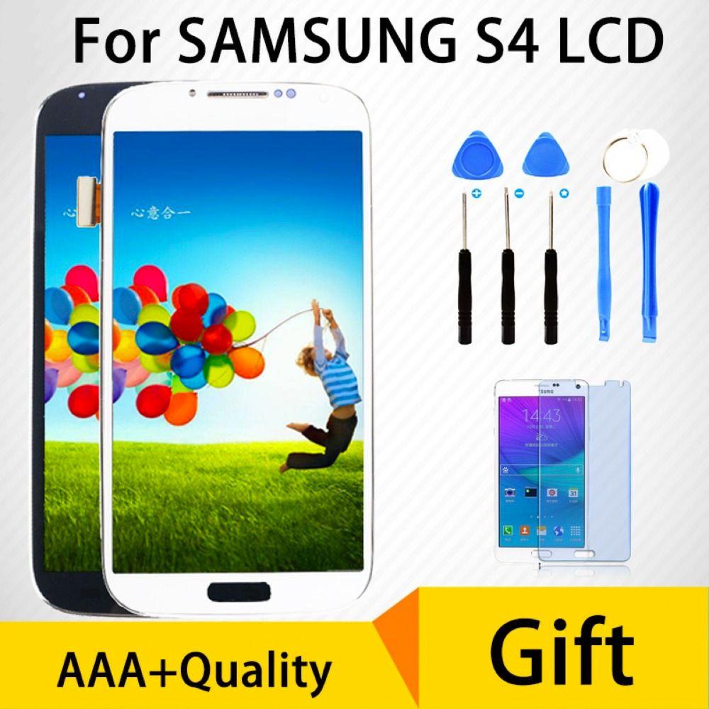 Für SAMSUNG Galaxy S4 LCD Digitizer Ersatz Vollversammlung mit Rahmen GT-i9505 i9500 i9505 i9506 i9515 Touchscreen