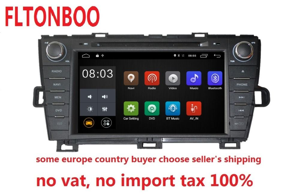 Android 7.1 for Toyota prius right 2din car dvd,gps navigation,wifi,radio,bluetooth,Steering wheel Free 8g Map,mic,touch screen