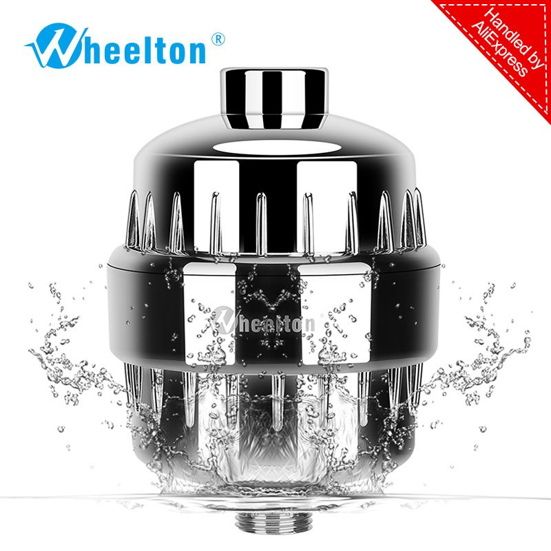 In-line bathroom <font><b>Shower</b></font> Filter bathing water filter purifier water treatment Health softener Chlorine Removal Free Shipping