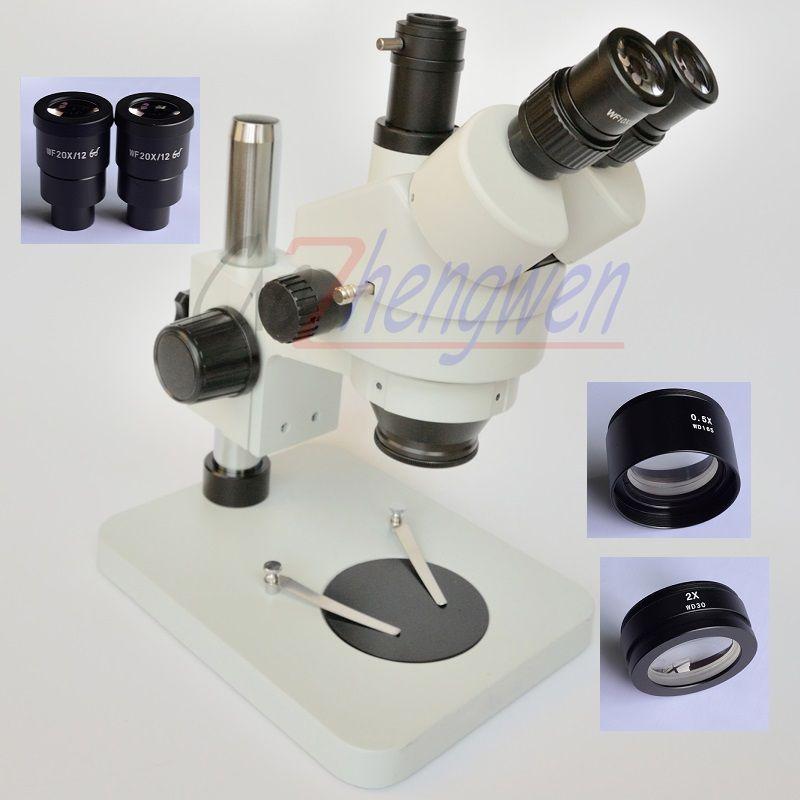 Freies Verschiffen!! 3.5X180X Tisch Säule Stehen Zoom Vergrößerung Trinokular Stereo Mikroskop SZM2.0X SZM0.5X objektiv