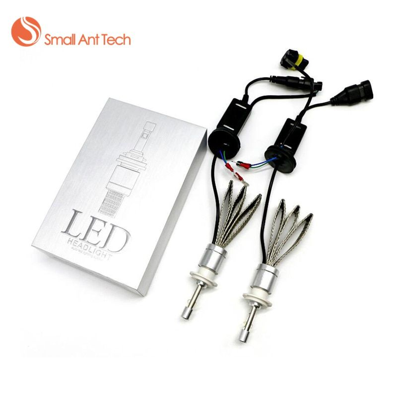 SamllAntTech Car Headlight H7 H4 LED H8/H9/H11 HB3/9005 HB4/9006 H1 H3 H13 9004 9007 80W 9600lm Auto Bulb Headlamp 6000K Light