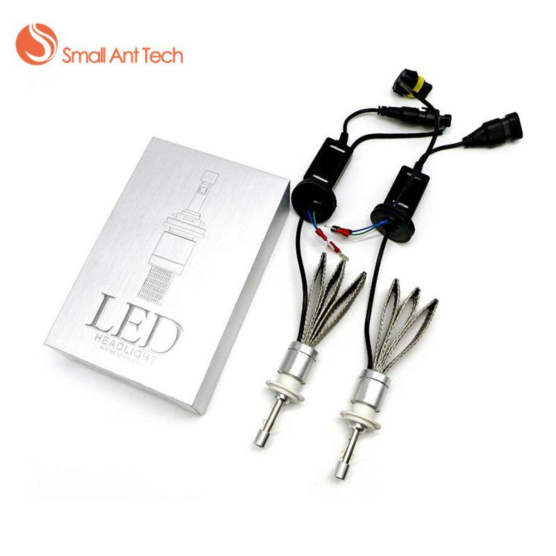SamllAntTech Car Headlight H7 H4 LED H8/H9/H11 HB3/<font><b>9005</b></font> HB4/9006 H1 H3 H13 9004 9007 80W 9600lm Auto Bulb Headlamp 6000K Light