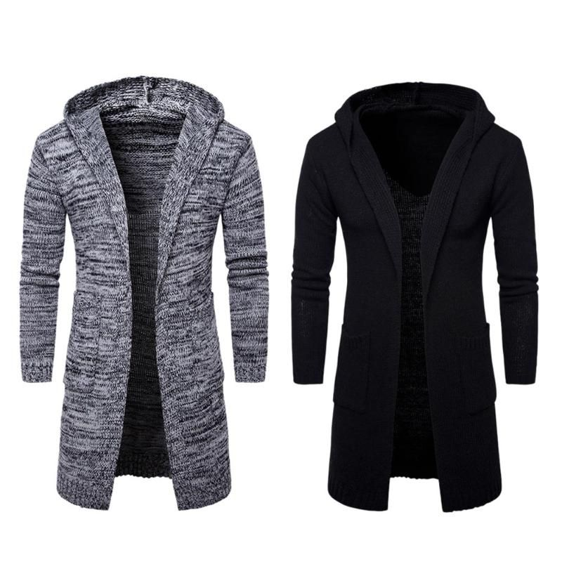 2017 Autumn Men Sweater Fashion  Korean Style Long Sleeve Male Cardigan Sweater Slim fit Casual Winter Hooded Sweater