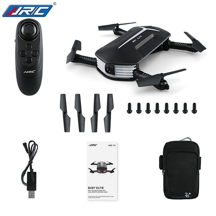 Drop Shipping JJR/C JJRC H37 MINI BABY ELFIE Foldable RC Drone RTF WiFi FPV 720P HD/G-sensor Controller/Waypoints Helicoputer