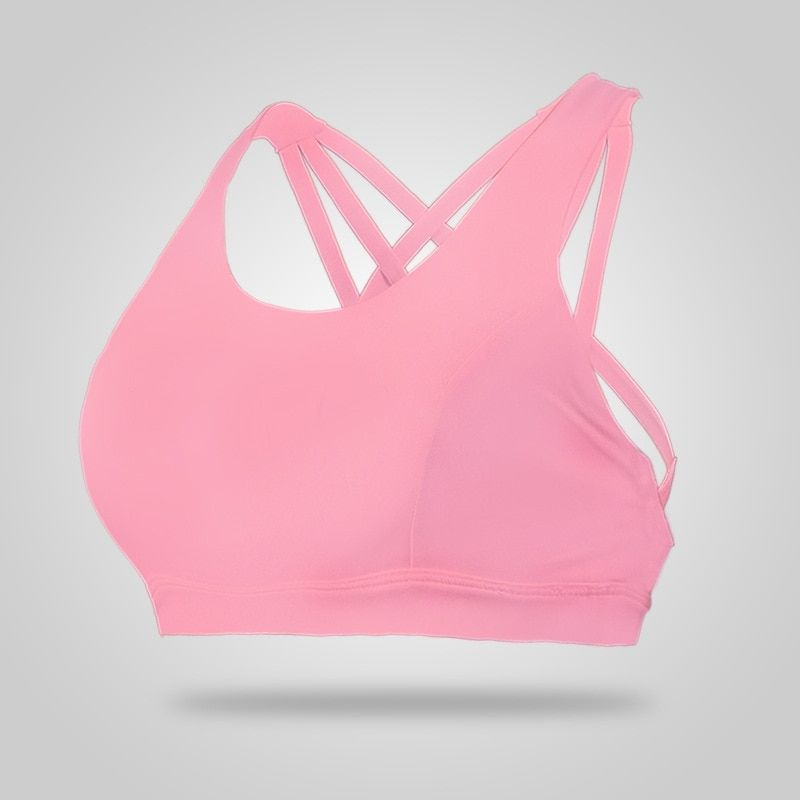 Eshtanga Women Yoga Sports Bra Thick Material Exercise Quick Dry Soft Comfortable Sleeveless Bras Size S-L free shipping