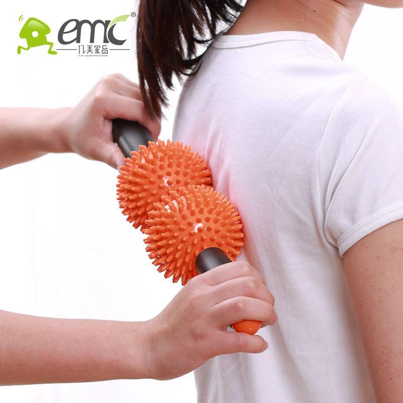 C02 rouleau de Massage Fitness bâton de Massage méridien soins de santé masseur de dos Instrument de Massage de Relaxation