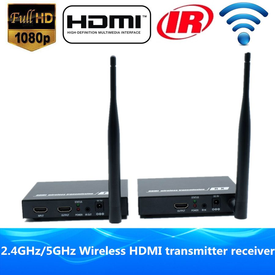 DT211W 200ft Wireless HDMI Splitter Extender Transmitter 1080P Wireless HDMI Video Audio Sender Receiver 60m With Loop Out & IR