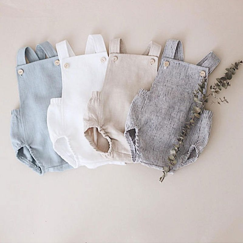 EnkeliBB Lovely Baby Boys Summer Romper Infant Girl Solid Rompers New Baby Lovely One-pieces Kids Boy Suspender Romper