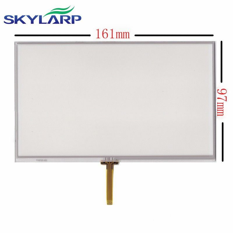 7 inch 161*97mm 4 wire resistive touchscreen for GPS navigation touch screen digitizer panel glass free shipping