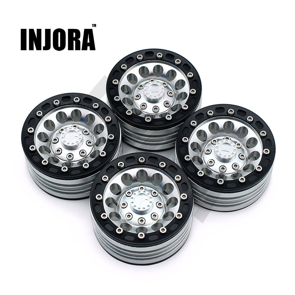 4Pcs/Set 1:10 RC Crawler Metal Alloy 1.9 Inch Wheel Rim BEADLOCK for 1/10 Axial SCX10 TAMIYA CC01 D90 D110