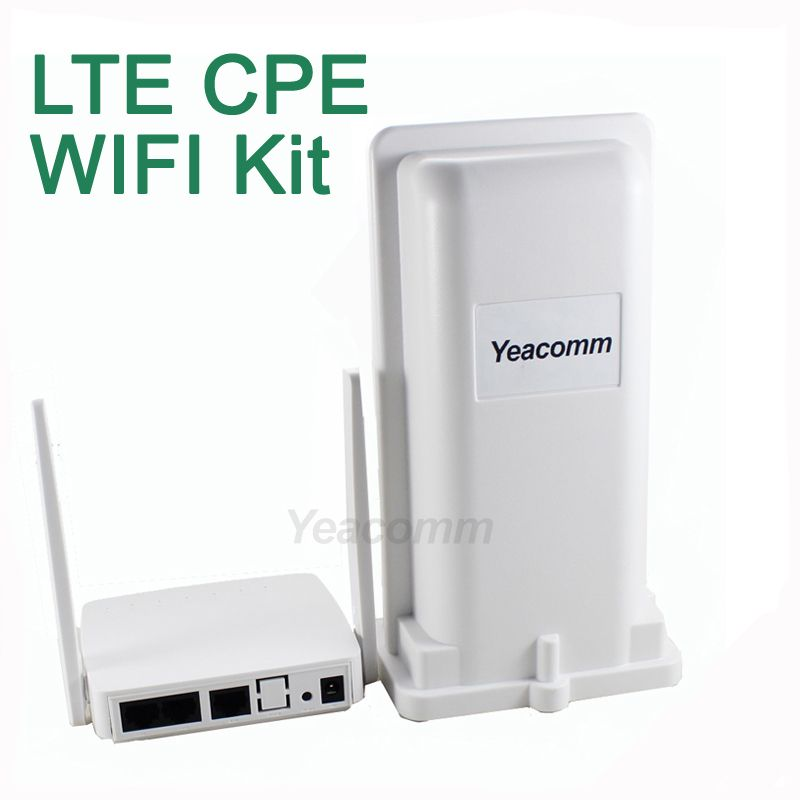 Free Shipping! Yeacomm YF-P11K 4g CPE WIFI KIT outdoor LTE CPE and indoor WIFI AP