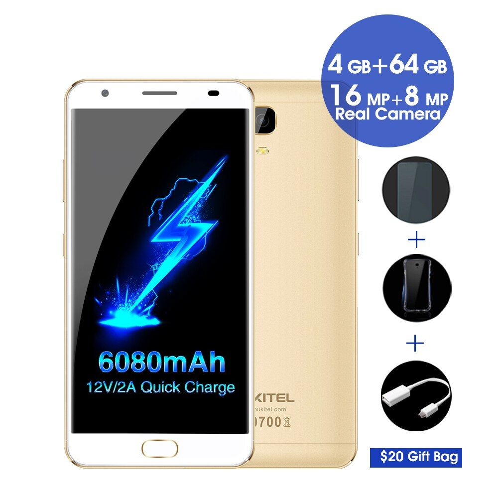 Oukitel K6000 plus 4g android 7.0 Smartphone 5,5