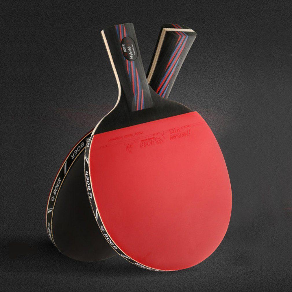 Raqueta de Tenis De mesa Con Cara de Doble Deporte De Goma Original De Fibra De Carbono Raqueta de Ping Pong Bat para la Formación Concurso venta Caliente