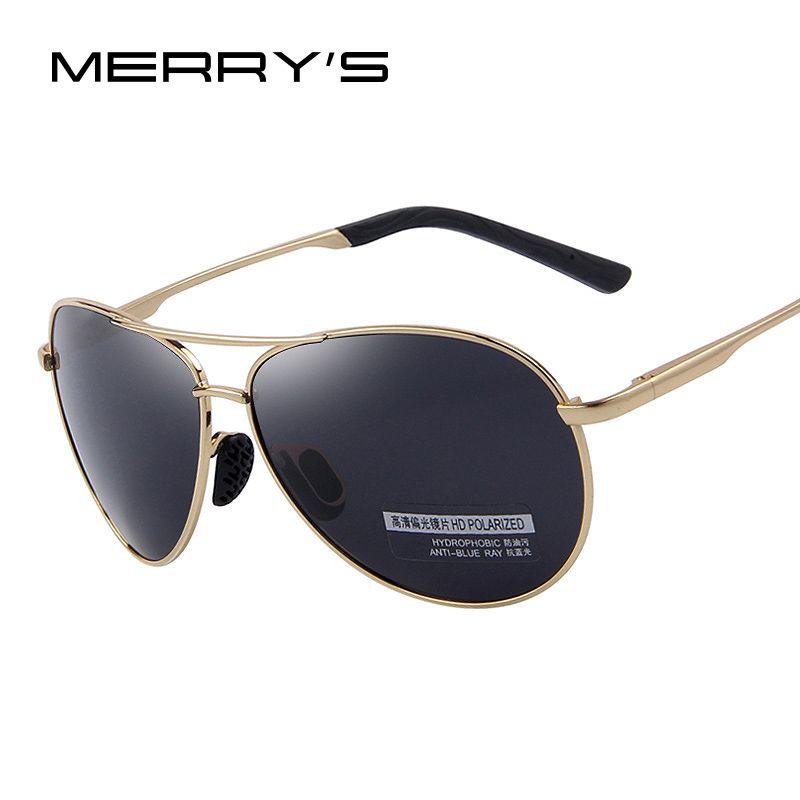 MERRY'S lunettes de Soleil Polarisées Hommes Pilote Miroir lunettes de Soleil Mâle Pêche Femelle lunettes de sports de plein air Pour Hommes S'601