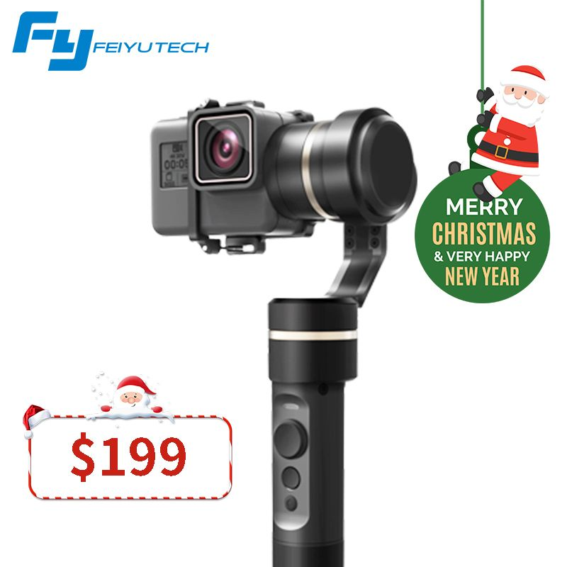 FeiyuTech fy G5 Splashproof 3-axis Handheld Gimbal For GoPro HERO 6 5 4 3 3+ Xiaomi yi 4k SJ AEE Action Cameras Bluetooth APP