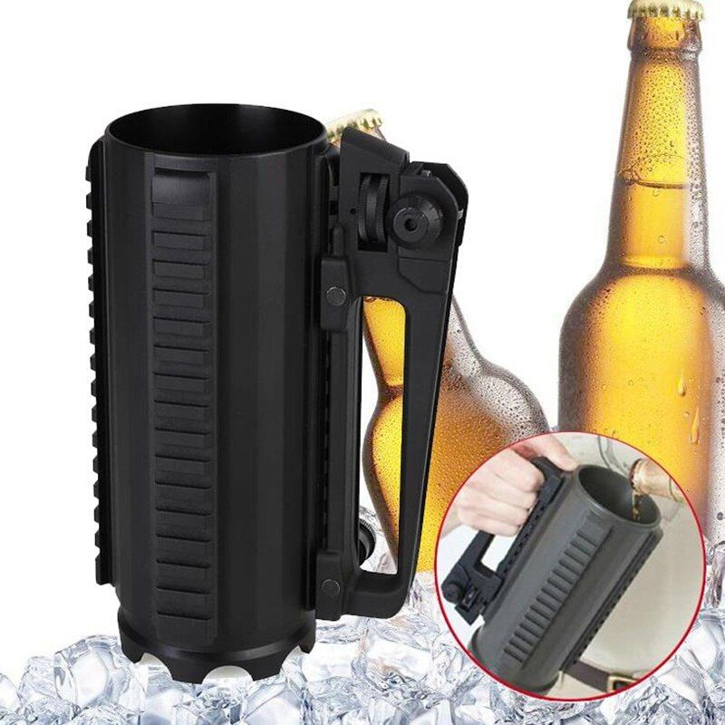 Hot Tactical Military Multifunctional Aluminum Detachable Carry Battle Rail Mug Cup Outdoor High capacity water beer Cups