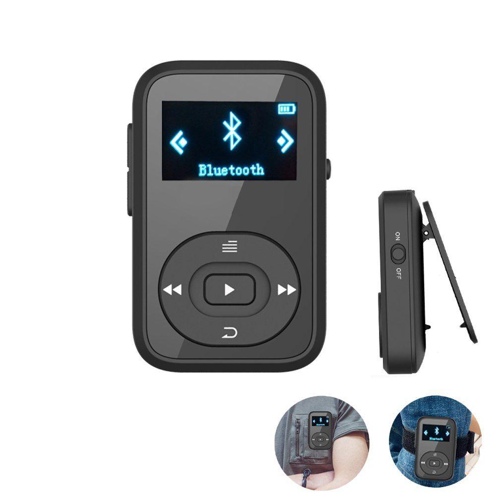 Mini Clip MP3 RUIZU X26 MP3 player Bluetooth 8GB Sport Mp3 Music Player Recorder FM Radio Support SD Card