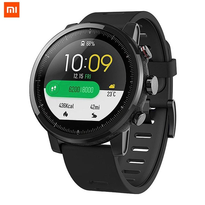 Xiaomi for HUAMI AMAZFIT International Version Strato Sports Smart Watch 4 RAM 2 GPS 1.34 inch 2.5D Screen Alipay and Bluetooth